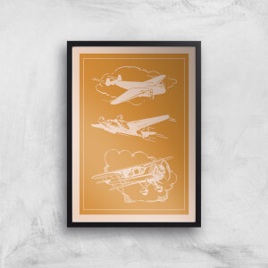 Aeroplane Diagram Giclee Art Print