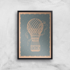Hot Air Balloon Giclee Art Print