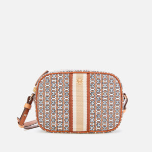 Tory Burch Women's Gemini Link Canvas Mini Bag - Light Umber