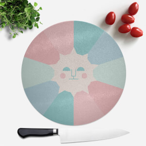 Sun Rays Round Chopping Board