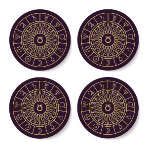 Decorative Planet Symbols Coaster Set