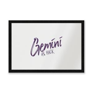 Gemini As Fuck Entrance Mat
