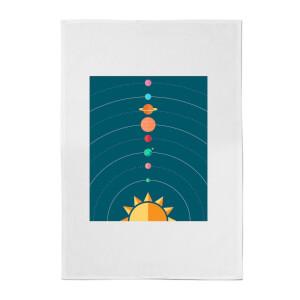 Planetary Alignment Cotton Tea Towel