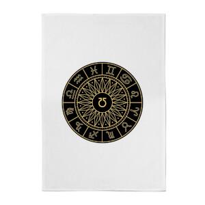 Decorative Horoscope Symbols Cotton Tea Towel