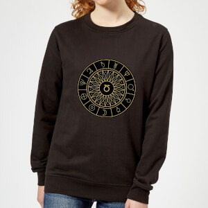 Decorative Planet Symbols Women's Sweatshirt - Black