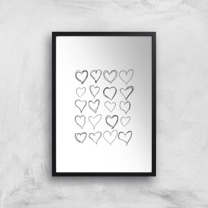 Love Hearts Giclee Art Print