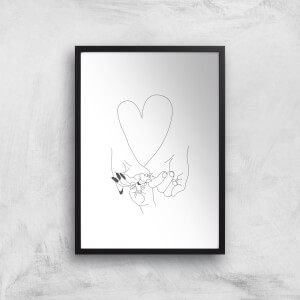 Parents Pinky Promise Giclee Art Print