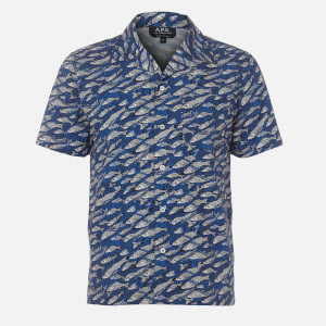 A.P.C. Men's Chemisette David Shirt - Bleu
