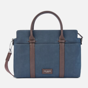 Ted Baker Men's Seller Faux Nubuck Document Bag - Navy
