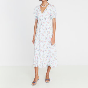 Faithfull the Brand Women's Maggie Midi Dress - Blue