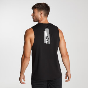 MP Herren Printed Training Tank - Black