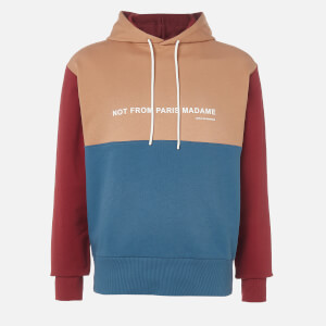 Drôle de Monsieur Men's Panelled Nfpm Hoodie - Multi