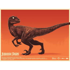 Jurassic Park Screenprint by Mark Bell