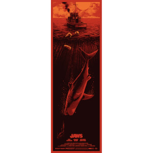 Jaws Screenprint by Nos4a2 Design