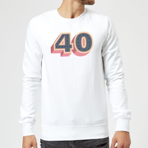 40 Dots Sweatshirt - White