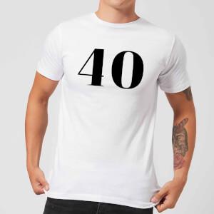 40 Men's T-Shirt - White