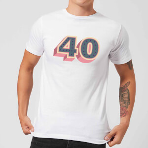 40 Dots Men's T-Shirt - White