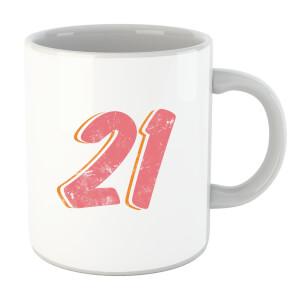 21 Distressed Mug