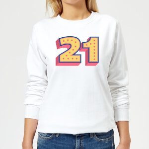 21 Dots Women's Sweatshirt - White