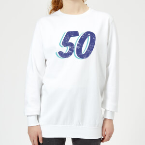 50 Distressed Women's Sweatshirt - White