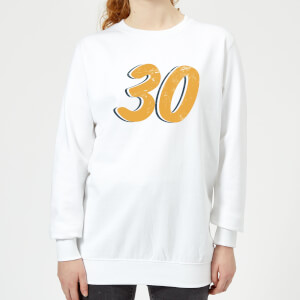 30 Distressed Women's Sweatshirt - White