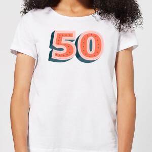 50 Dots Women's T-Shirt - White