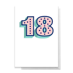 18 Dots Greetings Card