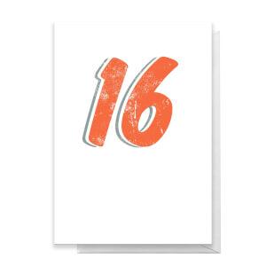 16 Distressed Greetings Card