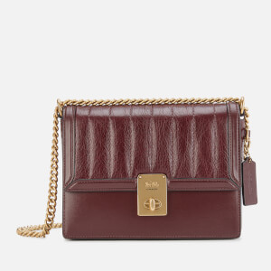 Coach Women's Souffle Quilting Hutton Shoulder Bag - Cranberry