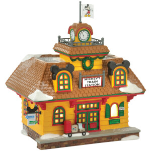 Disney Village Mickey's Holiday Train Station - UK Adaptor 18.5cm