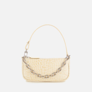 by FAR Women's Mini Rachel Croco Shoulder Bag - Cream