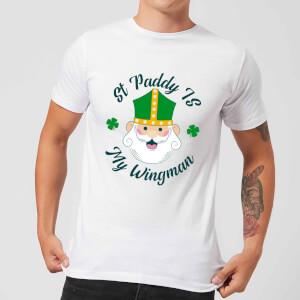 St Paddy Is My Wingman Men's T-Shirt - White