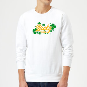 Lucky Bitch Sweatshirt - White