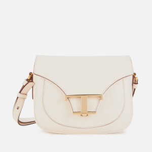Tod's Women's Logo Micro Saddle Bag - Mousse