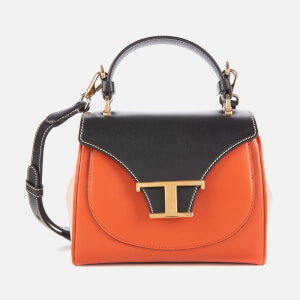 Tod's Women's Tri Colour Top Handle Micro Bag - Tan/Black/Pink