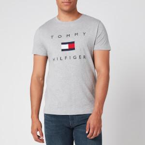 Tommy Hilfiger Men's Flag T-Shirt - Medium Grey