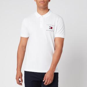 Tommy Hilfiger Men's Flag Polo Shirt - White