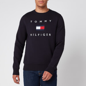 Tommy Hilfiger Men's Flag Sweatshirt - Desert Sky