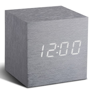 Gingko Cube Click Clock - Grey