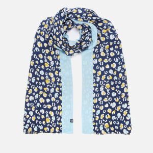 Joules Women's Conway Scarf - Navy Leopard