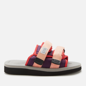 Suicoke Women's Moto-Cab Nylon Slide Sandals - Pink/Grey