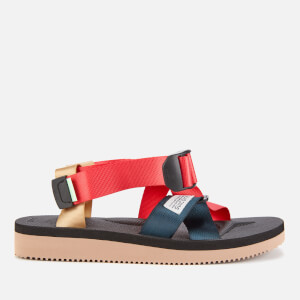 Suicoke Women's Chin2-Cab Nylon Strappy Sandals - Red-Black