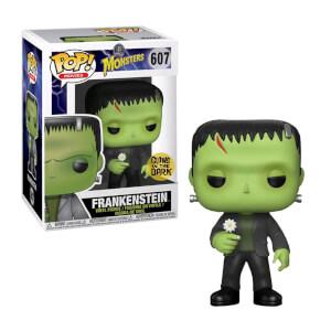 Figura Funko Pop! Exclusivo - Monstruos clásicos - Frankenstein con flor (Glow in the dark)
