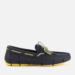 SWIMS Men's Knit Lace Loafers - Navy/Limelight