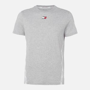 Tommy Sport Men's Tape Logo T-Shirt - Grey Heather