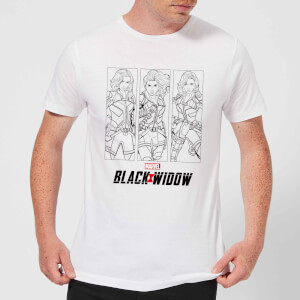 Black Widow Three Poses Men's T-Shirt - White