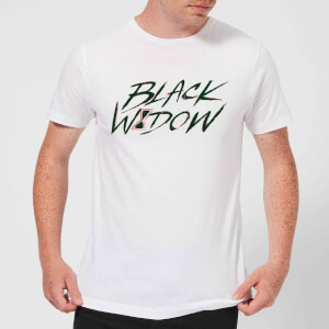 Black Widow Handwriting Men's T-Shirt - White