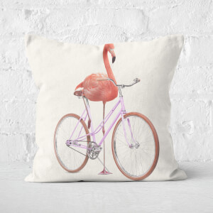 Flamingo Bike Square Cushion