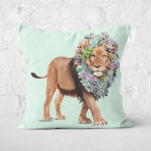 Succulent Lion Square Cushion
