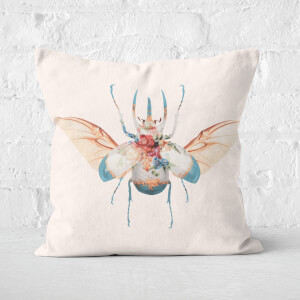 Vintage Beetle Square Cushion